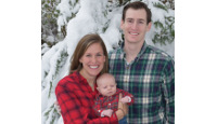 Kelly (Gardner) Wohler, husband Andrew and baby