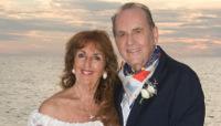 Sheila Bohon and Ed Bohon on beach wedding