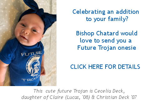 Click here to find out how to receive a Future Trojan onesie for your new addition to the family